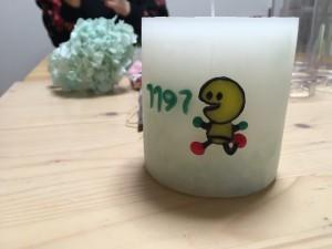 ミミー号のために作ったキャンドルです。