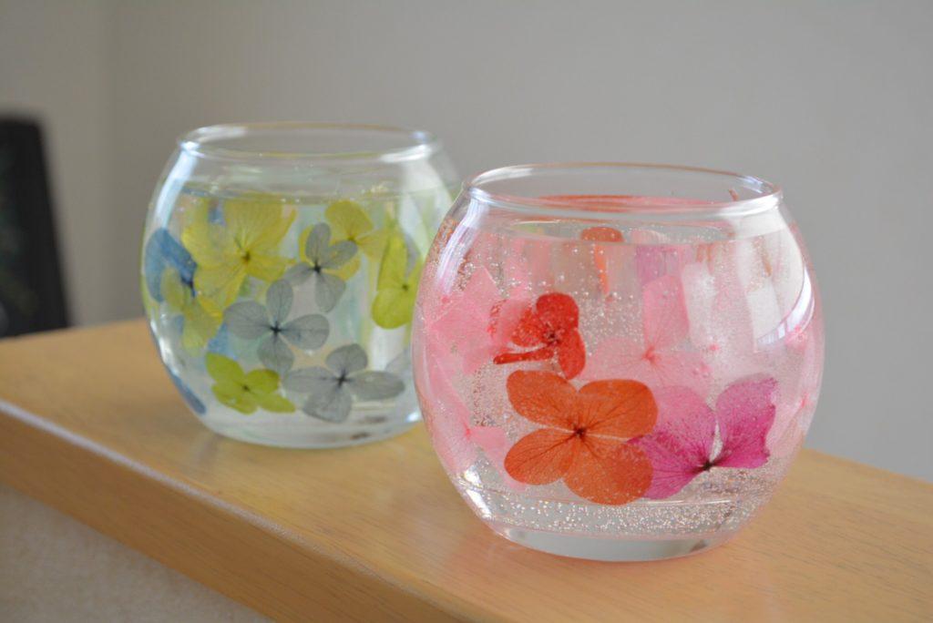 紫陽花ランタンキャンドル
